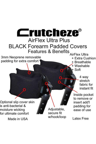 FOREARM CRUTCH PADS FEATURES AND BENEFITS
