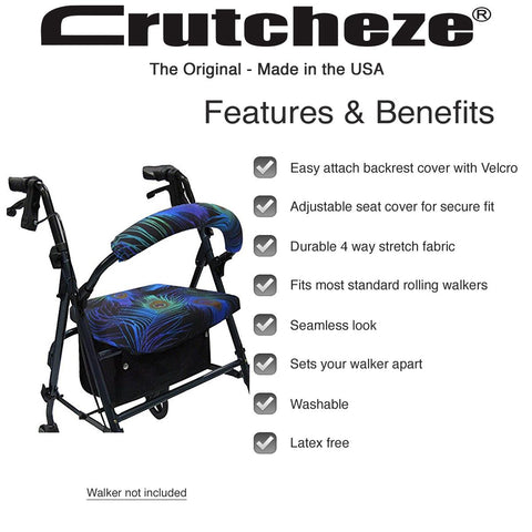 PEACOCK-FEATHER-ROLLATOR-WALKER-COVER-FEATURES-BENEFITS