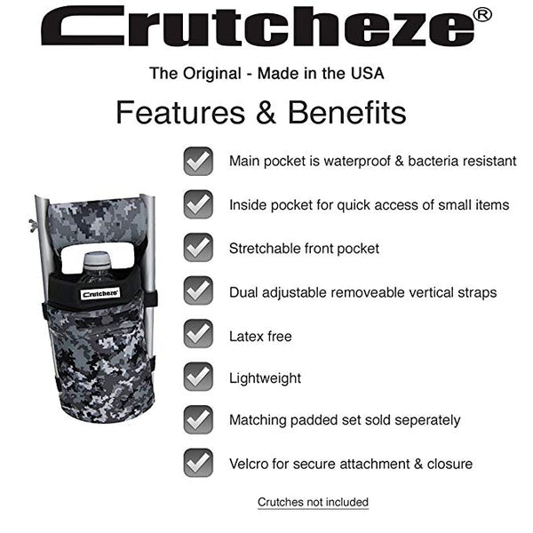Crutcheze crutch bag features and benefits
