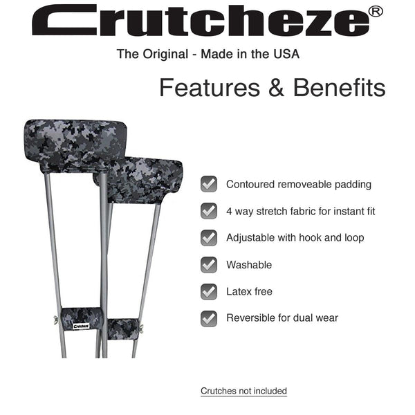 Digital Camo Crutch Padded Covers Features and Benefits