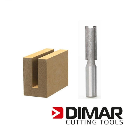 "Dimar 107R4-12M Straight Bit - 12mm, 1/4"" Shank"