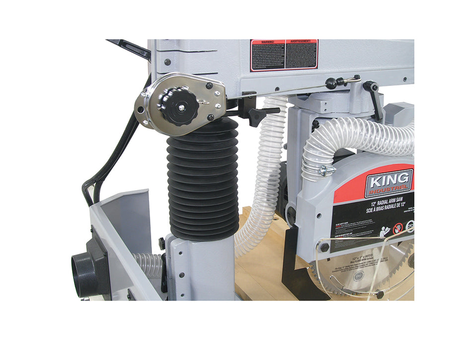 "KING KC-12RAS 12"" RADIAL ARM SAW w/ 2HP MOTOR-Marson Equipment"