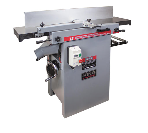"KING KC-12HJPC 12"" INDUSTRIAL JOINTER/PLANER COMBO w/ SPIRAL CUTTERHEAD-Marson Equipment"
