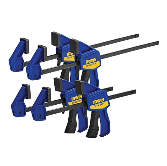 "Irwin Quick-Grip Bar Clamp Set - (2) x 6"" + (2) x 12"""