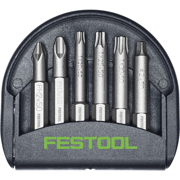Festool 204386 6pc Magnetic Impact Bit Set w/ Holder