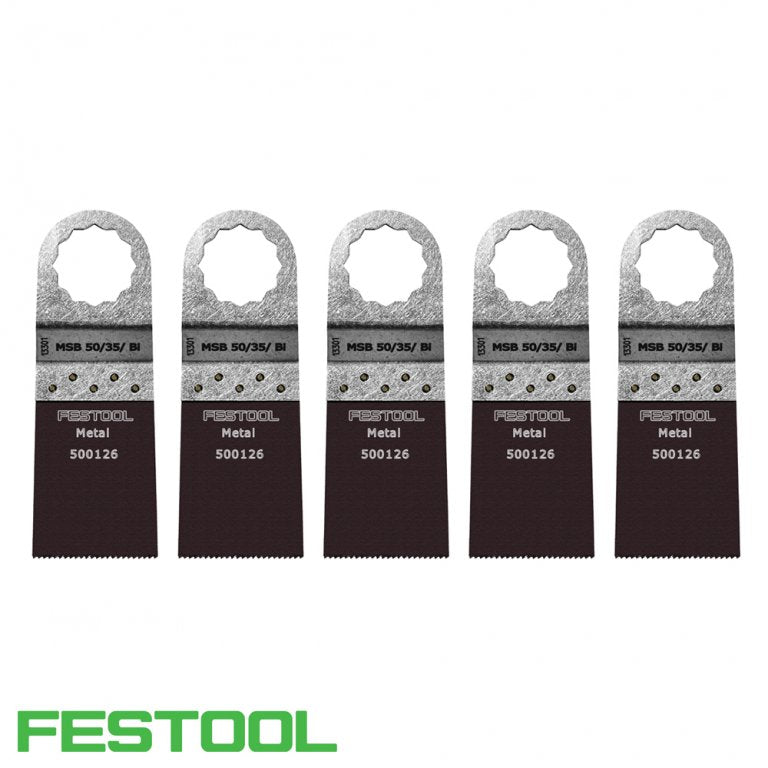 FESTOOL 500140 VECTURO METAL SAW BLADE (x5) - MSB 50/35/Bi-Marson Equipment