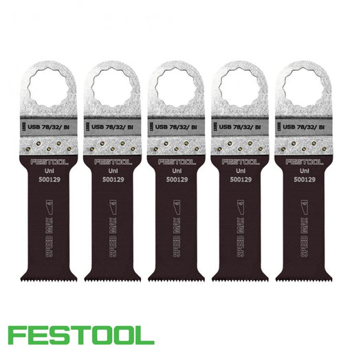 FESTOOL 500143 VECTURO UNIVERSAL SAW BLADE (x5) - USB 78/32/Bi-Marson Equipment