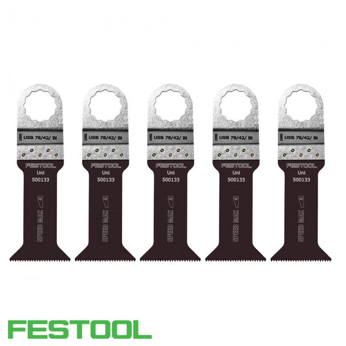 FESTOOL 500147 VECTURO UNIVERSAL SAW BLADE (x5) - USB 78/42/Bi-Marson Equipment