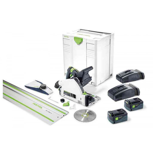 "Festool 575747 TSC 55 Cordless Track Saw + 55"" Guide Rail"