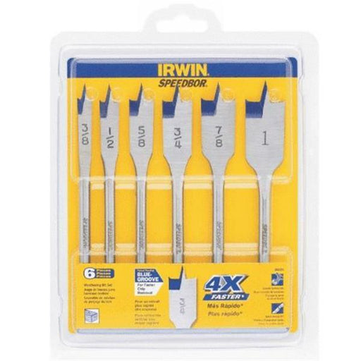 Irwin 88886 Speedbor Quick-Change 6pc Spade Bit Set