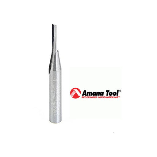 "AMANA 43500 SOLID CARBIDE SINGLE SPIRAL 'O' FLUTE FOR PLASTICS - 1/8"" DIAMETER-Marson Equipment"
