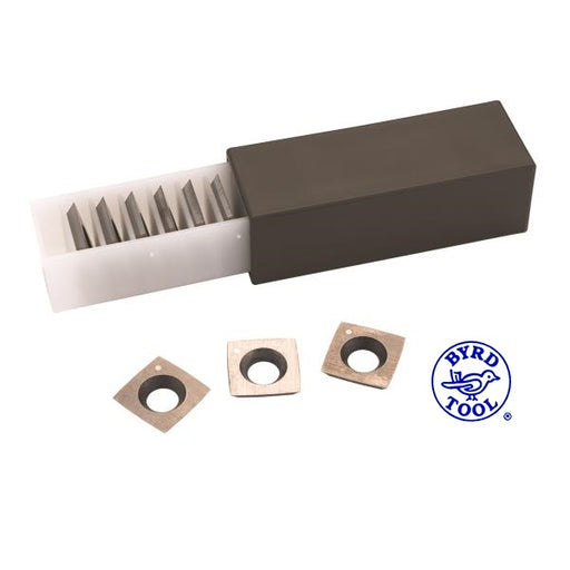 BYRD TOOL KN400 CARBIDE 4-SIDED INSERTS FOR SHELIX CUTTERHEADS-Marson Equipment