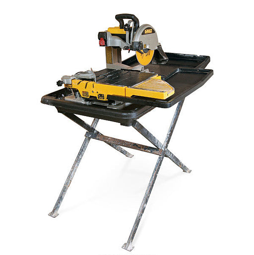 "DeWalt D24000SMM 10"" Wet Tile Saw w/ Stand and BONUS Mixing Drill"