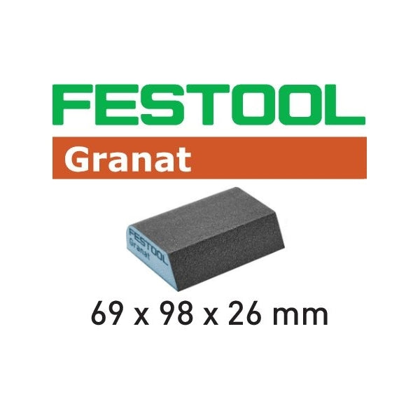 FESTOOL 201084 GRANAT HARD COMBI SPONGE 6PK (120 GRIT)-Marson Equipment