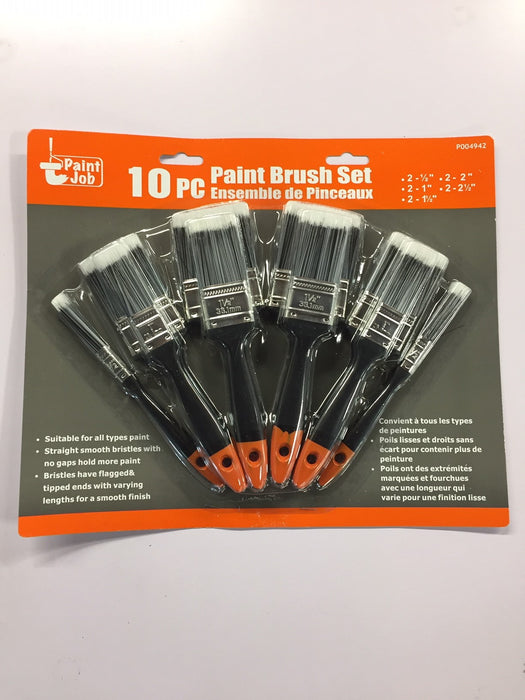 PAINT JOB P004942 10pc PAINT BRUSH SET-Marson Equipment