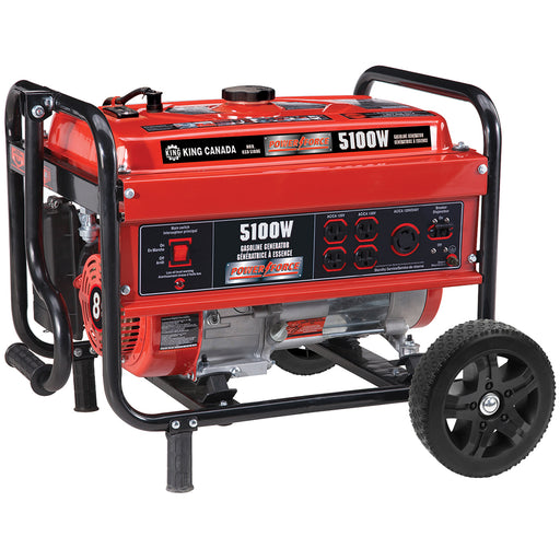 King Canada KCG-5100G Power Force 5100W Gasoline Generator w/ Wheels