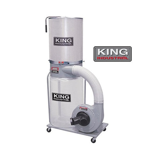 KING KC-3105C/KDCF-3500 1.5HP DUST COLLECTOR w/ CANISTER FILTER-Marson Equipment