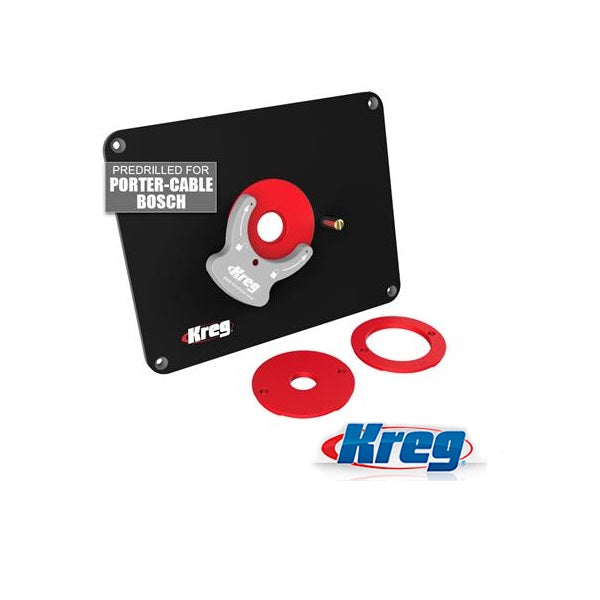 KREG PRS4036 ROUTER TABLE PLATE - DRILLED FOR PORTER CABLE & BOSCH-Marson Equipment