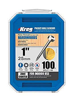 "KREG SPS-F1-100 1"" FINE THREAD SCREW (100PK)-Marson Equipment"