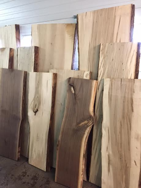 LIVE EDGE SLABS - MAPLE / WALNUT / PINE-Marson Equipment
