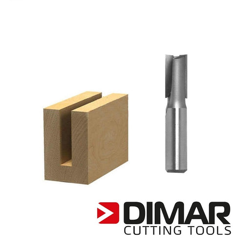 "Dimar 107R8-20M Straight Bit - 20mm, 1/2"" Shank"