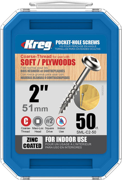 "KREG SML-C2-50 2"" COARSE SCREWS (50PK)-Marson Equipment"