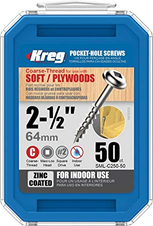 "KREG SML-C250-250 2-1/2"" COARSE THREAD SCREWS (250PK)-Marson Equipment"