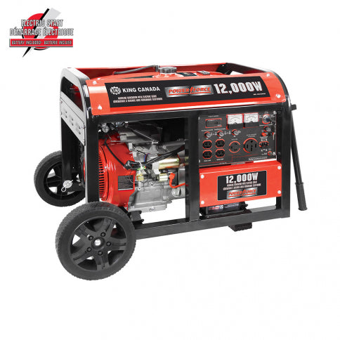 King Canada KCG-12000GE Power Force 12000W Gasoline Generator w/ Electric Start