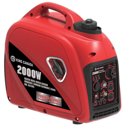 King Canada KCG-2001i Power Force 2000W Gasoline Digital Inverter Generator