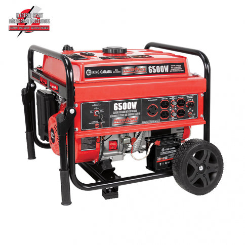 King Canada KCG-6502GE Power Force 6500W Gasoline Generator w/ Electric Start