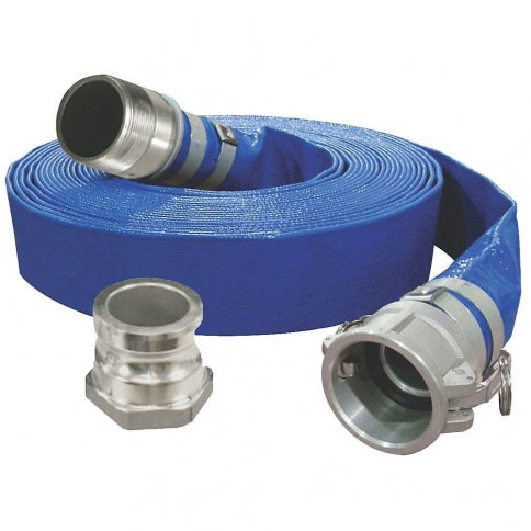 "King KW-502 Flatr PVC Reinforced Discharge Hose - 2"" x 50ft"