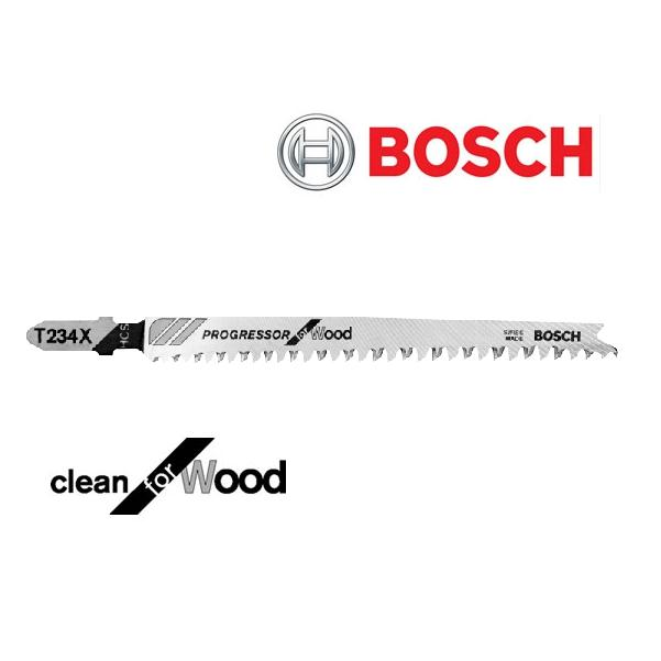 "BOSCH T234X3 4-1/2"" WOOD JIGSAW BLADE (5) PACK - FAST, STRAIGHT CUTTING-Marson Equipment"