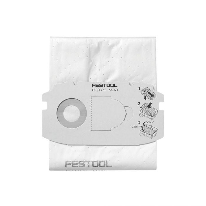 FESTOOL 498410 5PC FILTER BAGS (CT MINI)-Marson Equipment