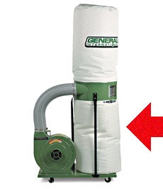 "KING KDCB-3105B 20"" DIAMETER CLOTH BOTTOM DUST COLLECTOR BAG-Marson Equipment"