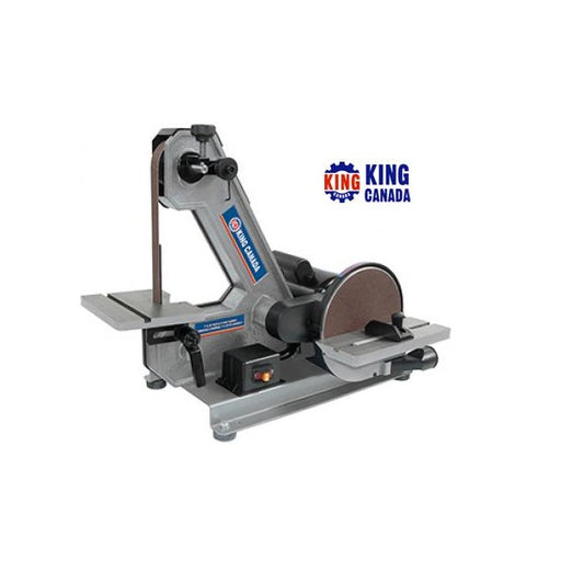 "KING KC-703C BENCHTOP SANDER - 1"" X 42"" BELT / 8"" DISC-Marson Equipment"