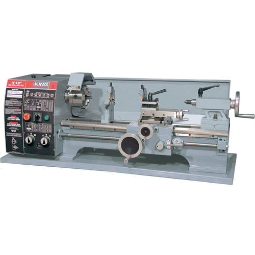 "KING KC-1022ML 10"" x 22"" BELT DRIVE METAL LATHE-Marson Equipment"