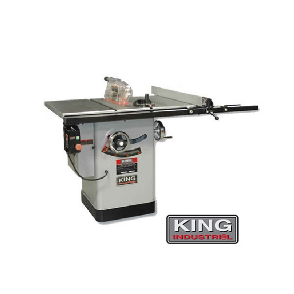 "KING KC-10KX/U50 10"" CABINET TABLE SAW w/ 50"" RIP & 2.5HP MOTOR-Marson Equipment"