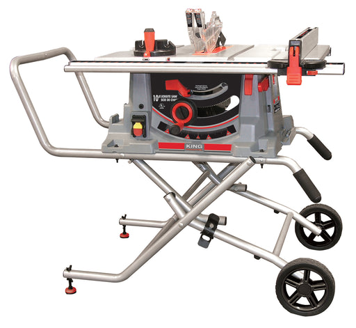 "KING KC-5100C 10"" JOBSITE TABLE SAW w/ FOLDING STAND-Marson Equipment"