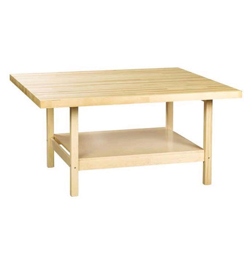 "48"" x 48"" MAPLE BUTCHER BLOCK SCHOOL WORKBENCH-Marson Equipment"