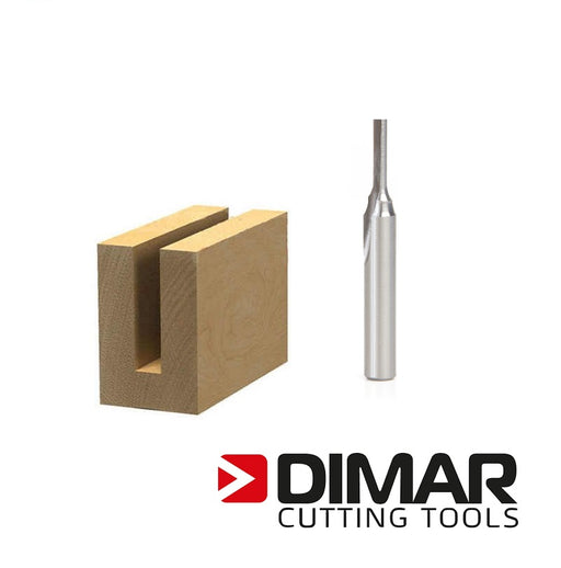 "Dimar 107R4-8M Straight Bit - 8mm, 1/4"" Shank"