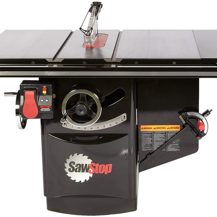 "SAWSTOP ICS 10"" 5HP/1PH INDUSTRIAL SAW w/ 52"" FENCE PKG-Marson Equipment"