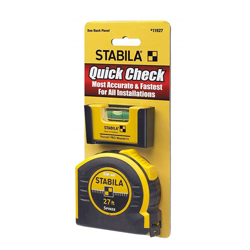 Stabila 11927 Quick Check Pocket Pro Level + 27ft Tape