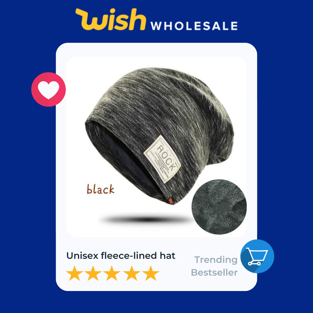 gray fleece lined hat is a high demand product in accessories