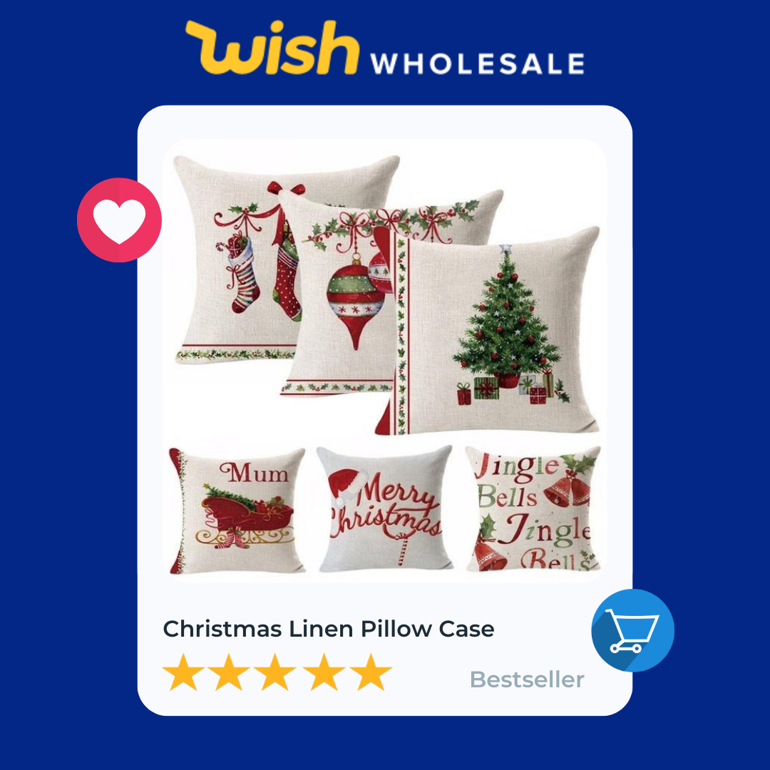 christmas linen pillow cases are a high demand product in home decor