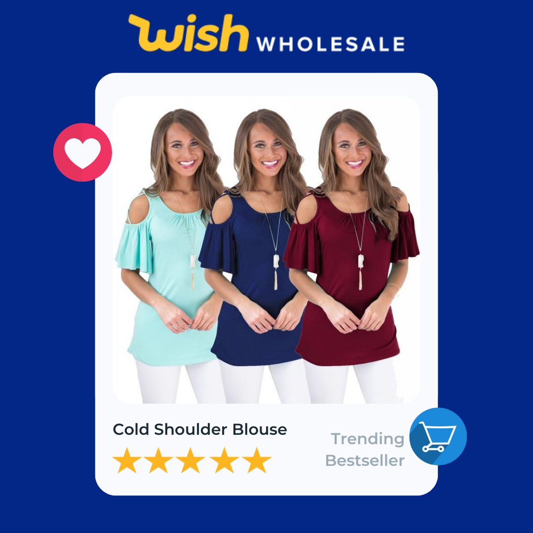 cold shoulder bluse is a high demand product in apparel