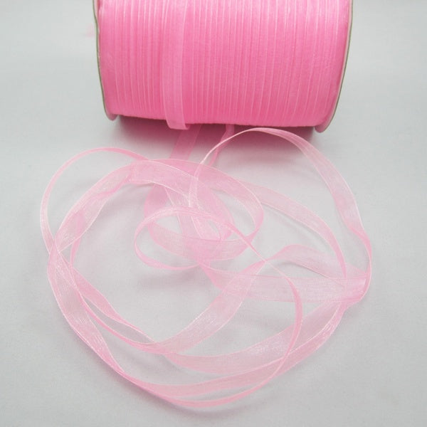 12 s 50 Yards 3 8 1Cm Sizes Satin Edge Sheer Organza Ribbon Bow Craft For Festival Decorate Ornats rosered