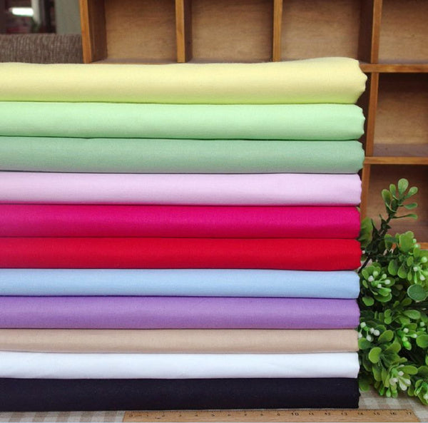 100 cotton Pink tender pure color cloth cotton twill bedding clothing fabric Home Furnishing decorative fabric art hand DIY patchwork cloth 50cm by 80cm light blue