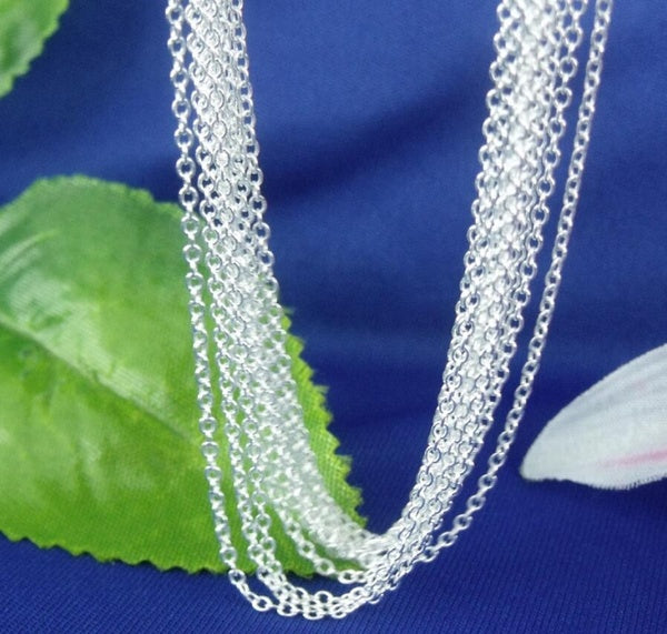 "Silver ""O"" Shaped Chain Necklace"