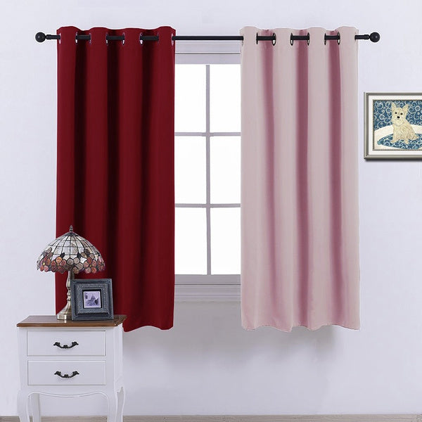 Blackout Grommet Top Thermal Insulated Room Curtains Drapery for Living Room 52 by 45 green