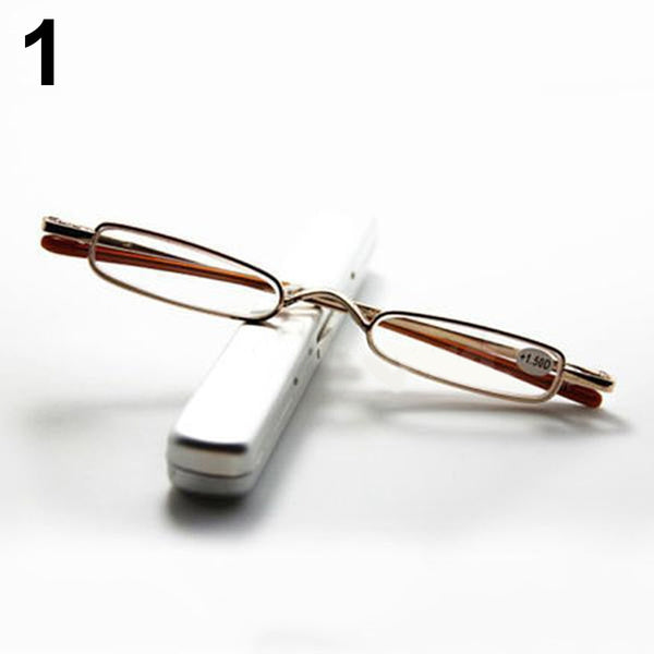 Slim Portable Reading Glasses with Case 1.00 - 4.00 Diopter 3.00-Strength gray